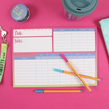 New Year New Me Gym Planner Pad