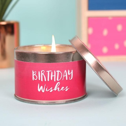 'Bithday Wishes' Candle Tin