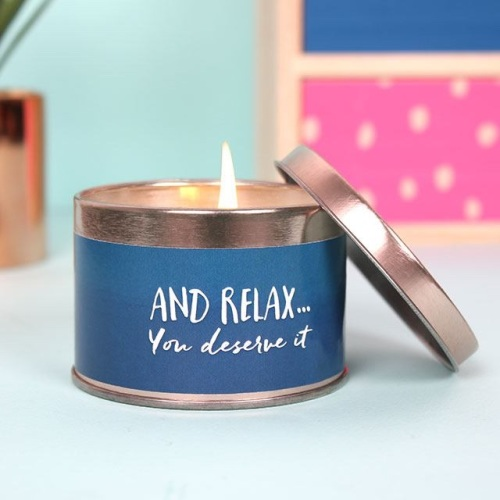 'And Relax' Candle Tin