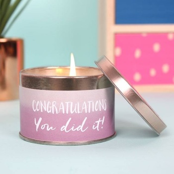 'Congratulations' Candle Tin