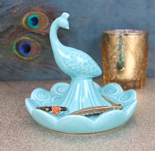 Peacock Jewellery Dish