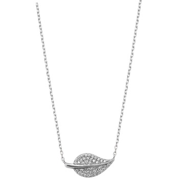 CZ Leaf Necklace
