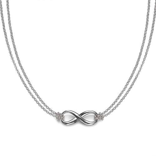 Double Chain Infinity Pendant Necklace
