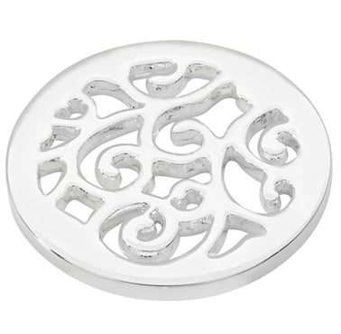 Silver Plated Wavy Coin