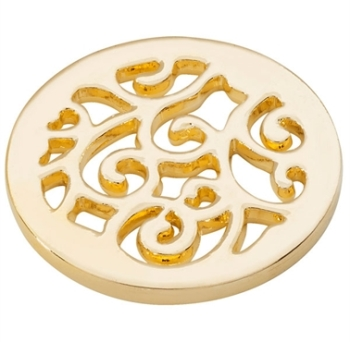 Gold Plated Wavy Coin