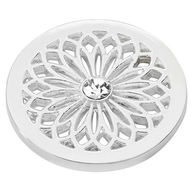 Silver Plated Flower Coin