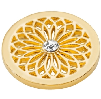 Gold Plated Flower Coin
