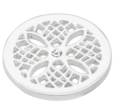Silver Plated Petal Coin