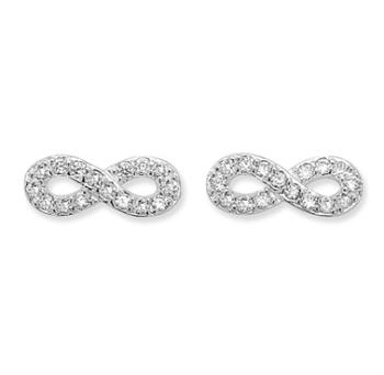 CZ Infinity Earrings