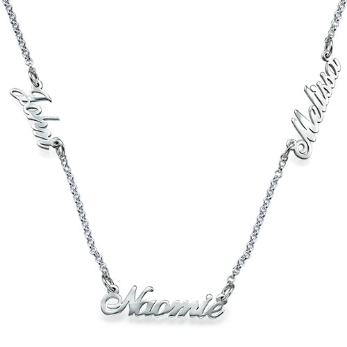 Sterling silver Multiple Name Necklace