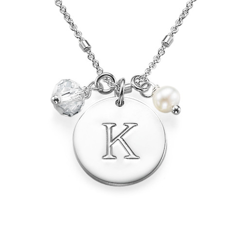 Sterling Silver Initial Charm Necklace