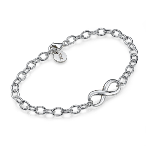 Initial Sterling Silver Infinity Bracelet