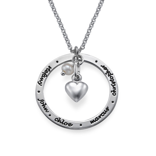 Family Love Sterling Silver Necklace