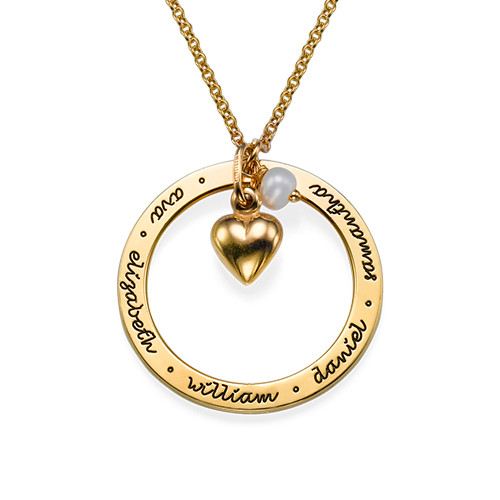 Family Love Gold Plated Necklace