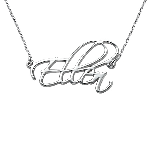 Script Sterling Silver Name Necklace