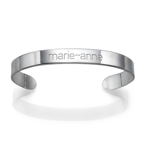 Engraved Sterling Silver Cuff Bracelet