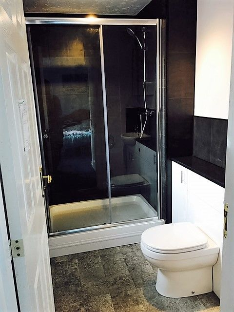 shower enclosure wall panels enclosed cistern derbyshire