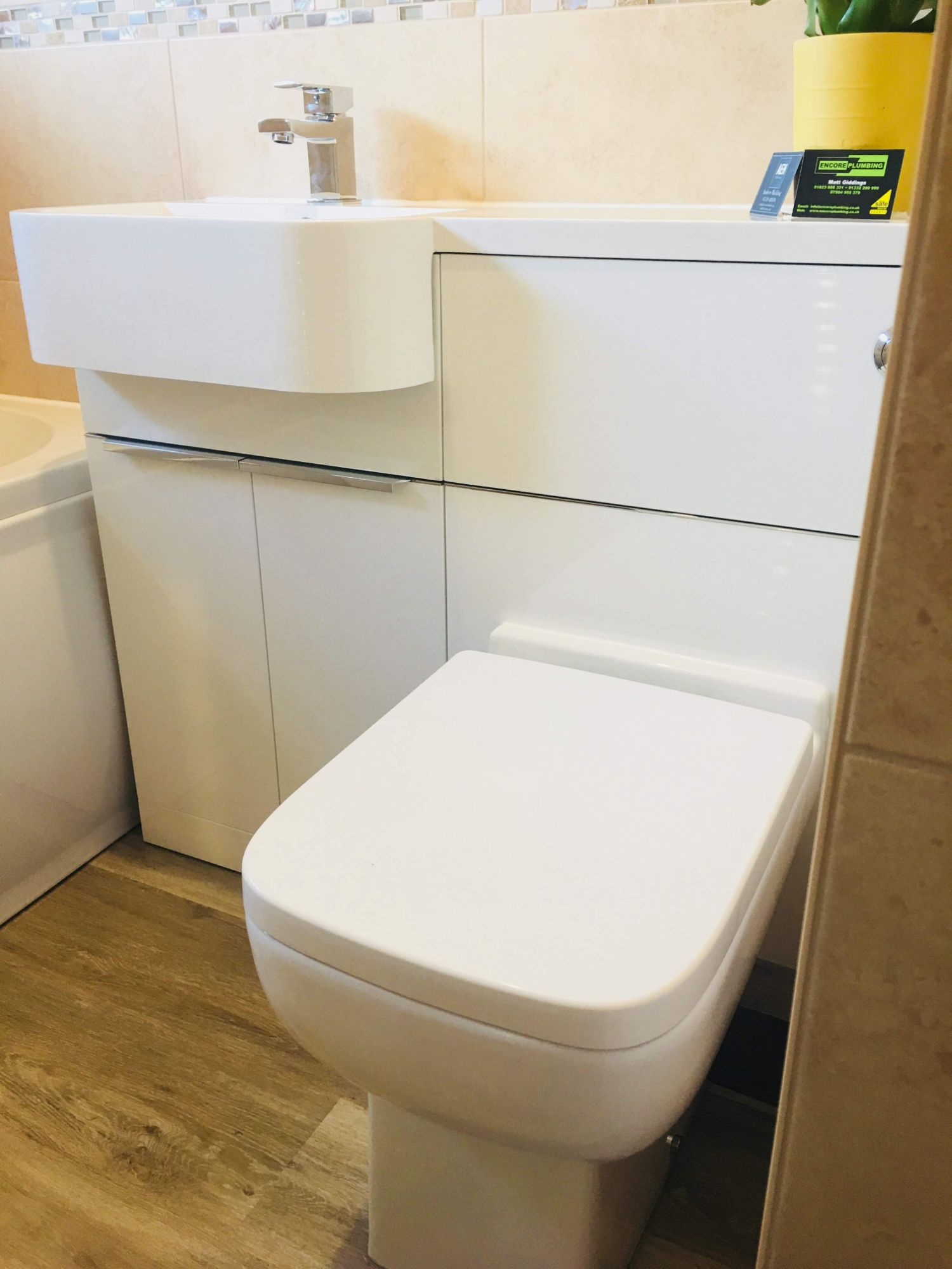 smart white bathroom cabinets concealed cistern derbyshire