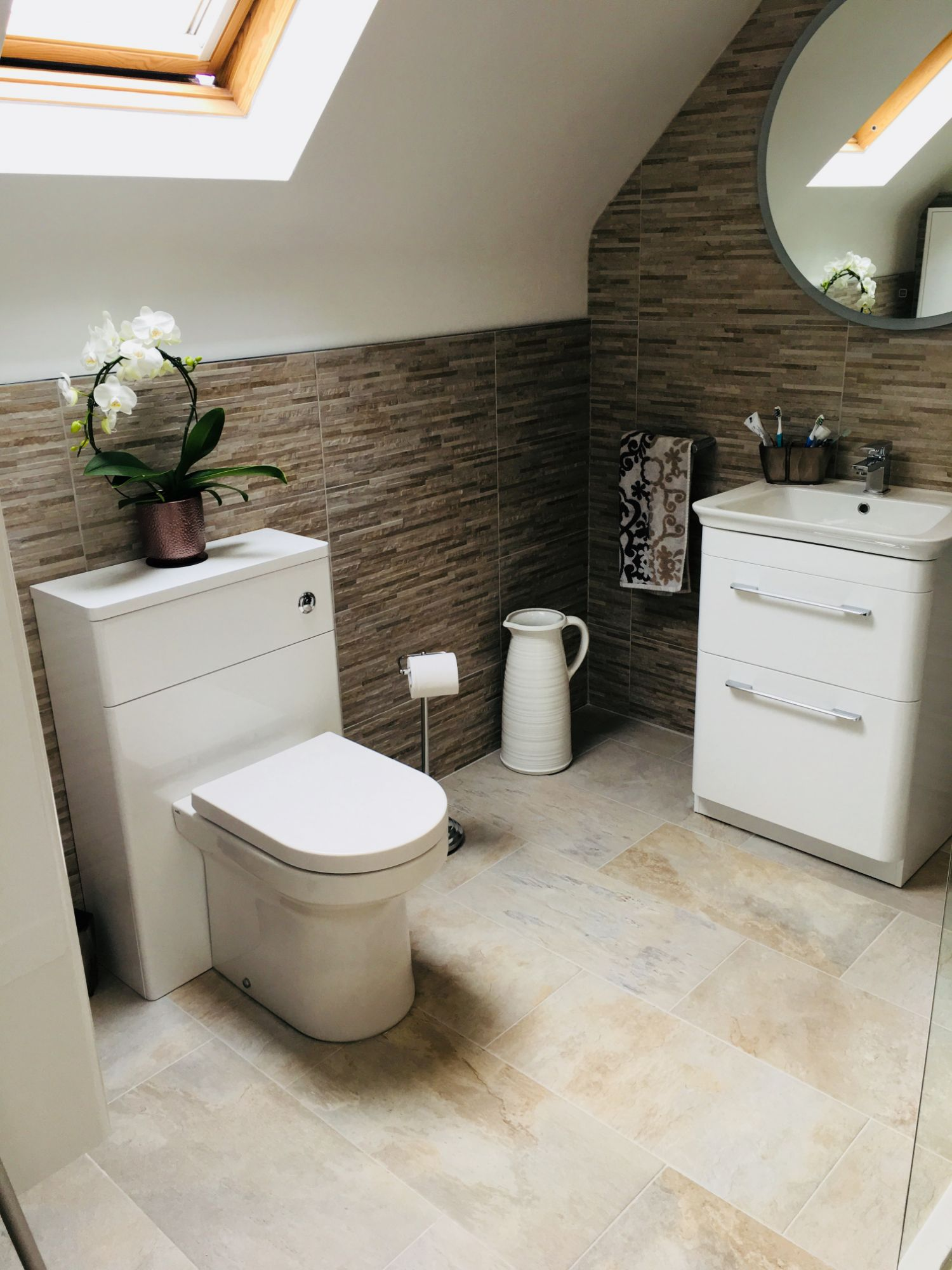 concealed enclosed toilet cistern awkward bathroom ceiling apex