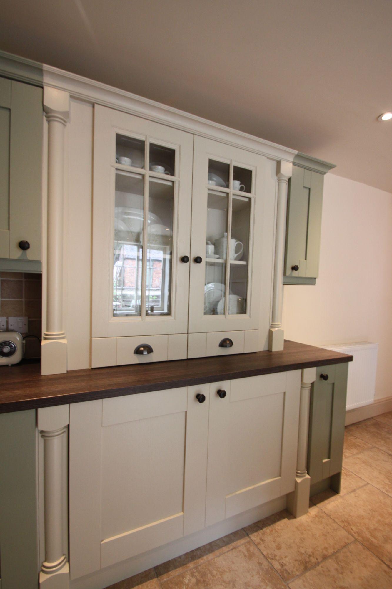 painted kitchen dresser display unit cottage derbyshire