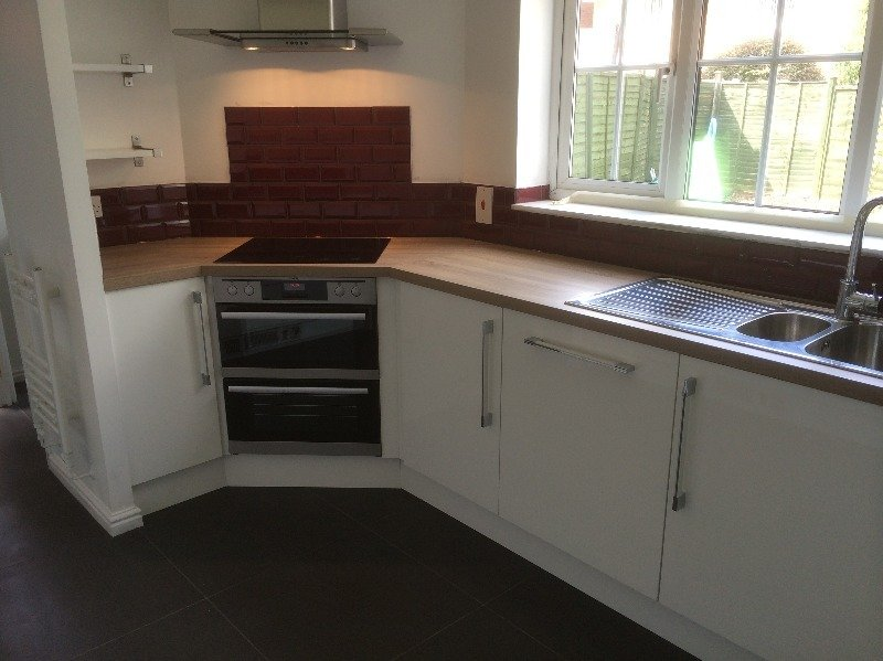 fitted corner oven units kitchen derbyshire