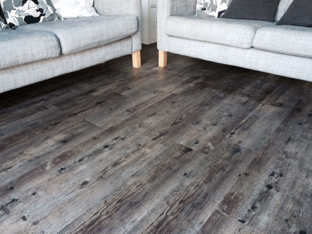 dark grey wood effect vinyl flooring planks derbyshire