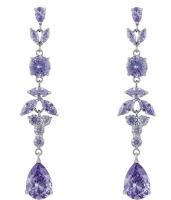 ADORA DROP EARRINGS (LAVENDER CZ)