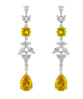 ADORA DROP EARRINGS (WHITE AND YELLOW)