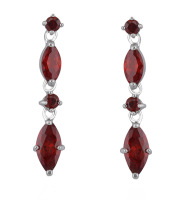 JULIETTE DROP EARRINGS (RED)