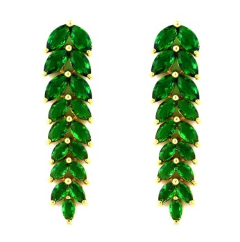 LOLA RAY I DROP EARRINGS (GREEN)
