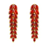 LOLA RAY I DROP EARRINGS (RED)