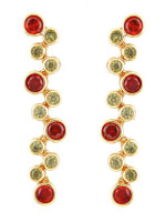 OLIVIA DROP EARRINGS (RUBY AND PERIDOT)