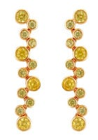 OLIVIA DROP EARRINGS (YELLOW AND PERIDOT)