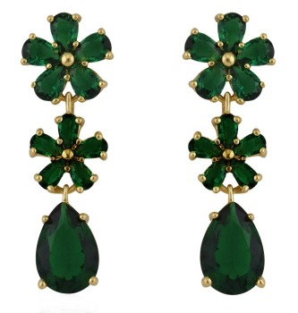PRECIOUS DROP EARRINGS (GREEN)