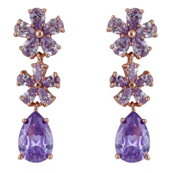 PRECIOUS DROP EARRINGS (LAVENDER)