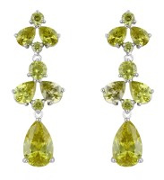PRIYA DROP EARRINGS (PERIDOT)