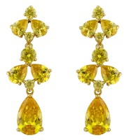 PRIYA DROP EARRINGS (YELLOW)