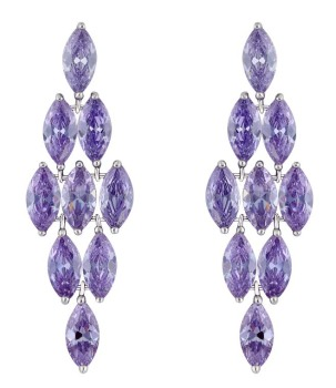 RADIANCE CHANDELIER EARRINGS (LAVENDER)