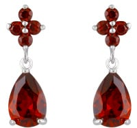STEPHANIE DROP EARRINGS (RED)
