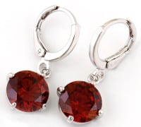 SOFIA CUBIC ZIRCONIA EARRINGS (RED)