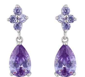 STEPHANIE DROP EARRINGS (LAVENDER)