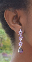 ANASTACIA DROP EARRINGS (AMETHYST CZ)