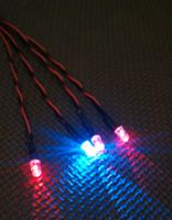 5mm x4 Red / Blue Alternating 160mm 9v Clip