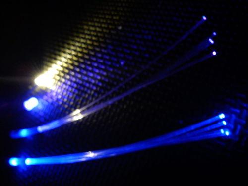 Cockpit Set x2 RGB Fibre x1 5mm UV x1 3mm WW 9v Clip SLOW FLASH