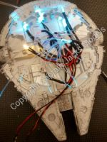 Star Wars Model Led & Fibre Optic Bandai 1/144 Millennium Falcon Light Kit - STA