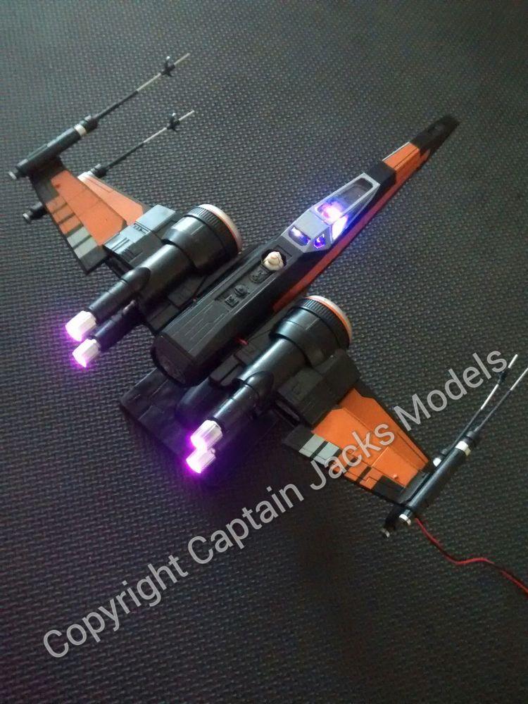 Star Wars Model Fibre Optic LED Light Kit For Poe's X Wing Fighter Revell 0