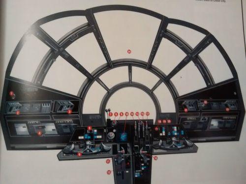 Star Wars Model Fibre Optic Large Millenium Falcon FRONT COCKPIT CONTROLS S