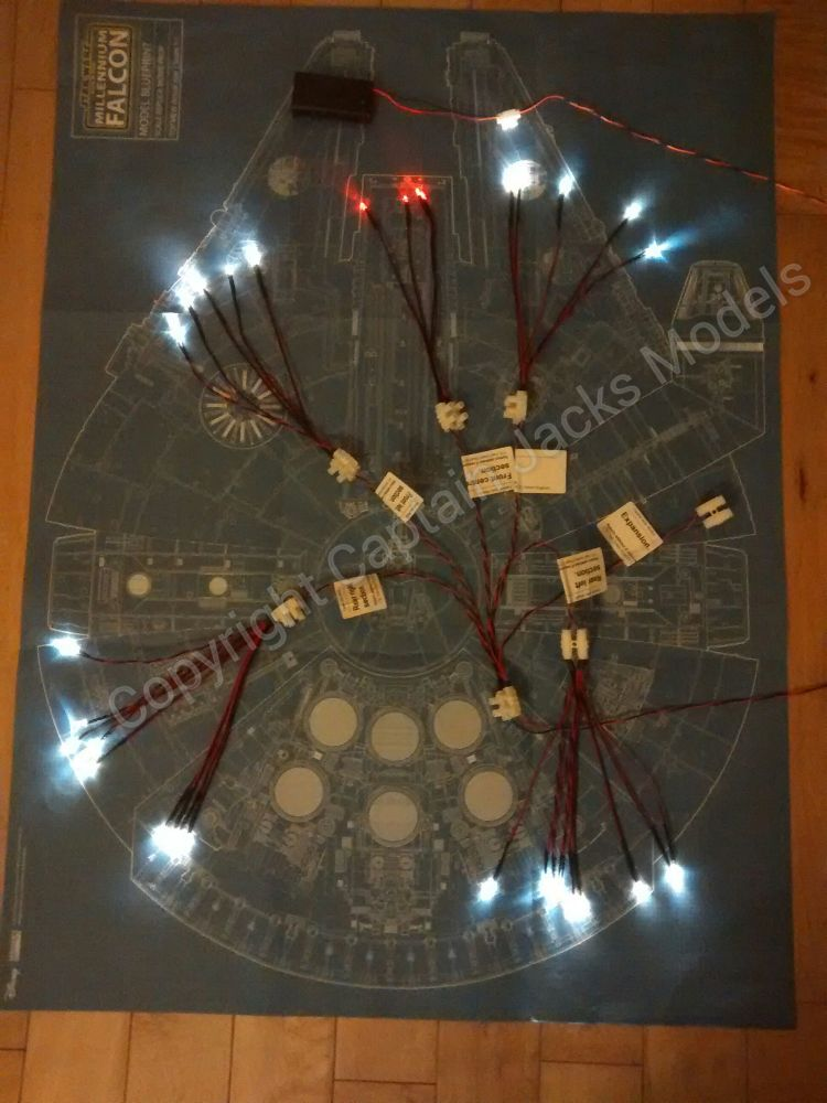 Large Scale Millennium Falcon Traditional Layout Landing Light Kit