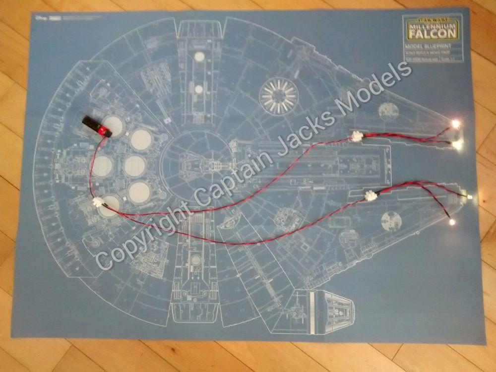 Large Scale Millennium Falcon Headlight Set
