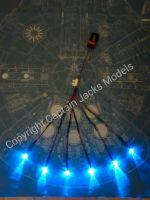 Large Scale Millennium Falcon Hyper Drive Booster Blue Flicker Effect Set